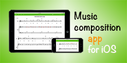 Score Creator - music composition app for iOS