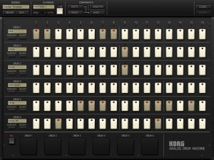 iMS 20 drum module 300x225 Korg iMS 20 analog synth   music app review