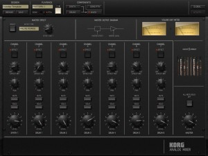 iMS 20 mixer 300x225 Korg iMS 20 analog synth   music app review