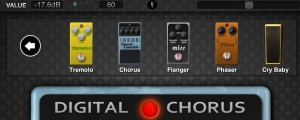 There are plenty of effects supplied as shown here for the selection under the Modulation type. More are available as in-app purchases.