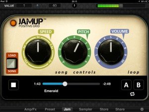 JamUp jam screen 300x225 Music app review   JamUp Pro XT by Positive Grid