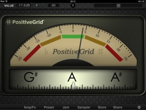 JamUp tuner 300x225 Music app review   JamUp Pro XT by Positive Grid