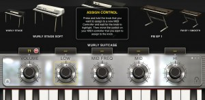 ilectric controllers 300x147 iLectric Piano by IK Multimedia – music app review