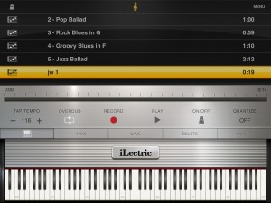 ilectric recording 300x225 iLectric Piano by IK Multimedia – music app review