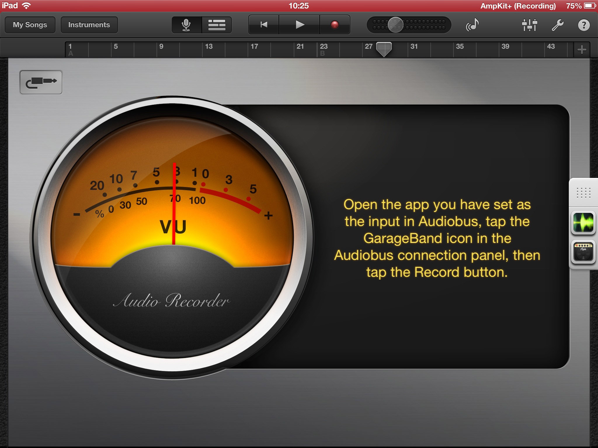 Review Garageband Ipad Garageband Audio Recording Via Audiobus