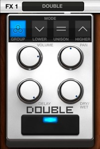 vocalive doubler 202x300 VocaLive music app review – iOS multi effects for vocalists from IK Multimedia