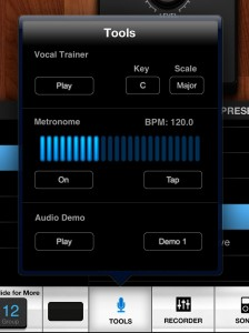 vocalive tools 224x300 VocaLive music app review – iOS multi effects for vocalists from IK Multimedia