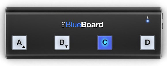 blueboard top view iRig BlueBoard review – wireless MIDI pedalboard controller for iOS from IK Multimedia