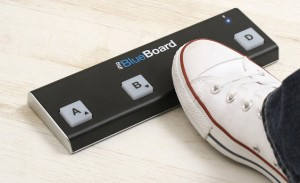 blueboard with foot 300x183 iRig BlueBoard review – wireless MIDI pedalboard controller for iOS from IK Multimedia