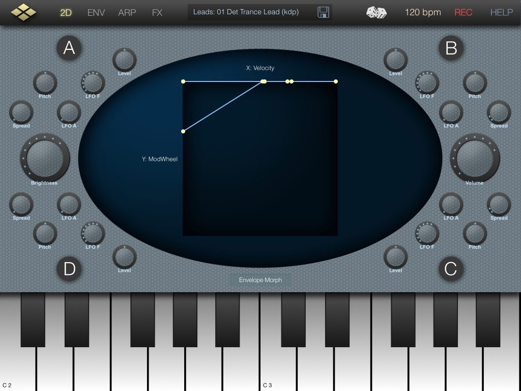cube synth main screen 1024x768 Cube Synth review – additive synthesis for iOS from VirSyn