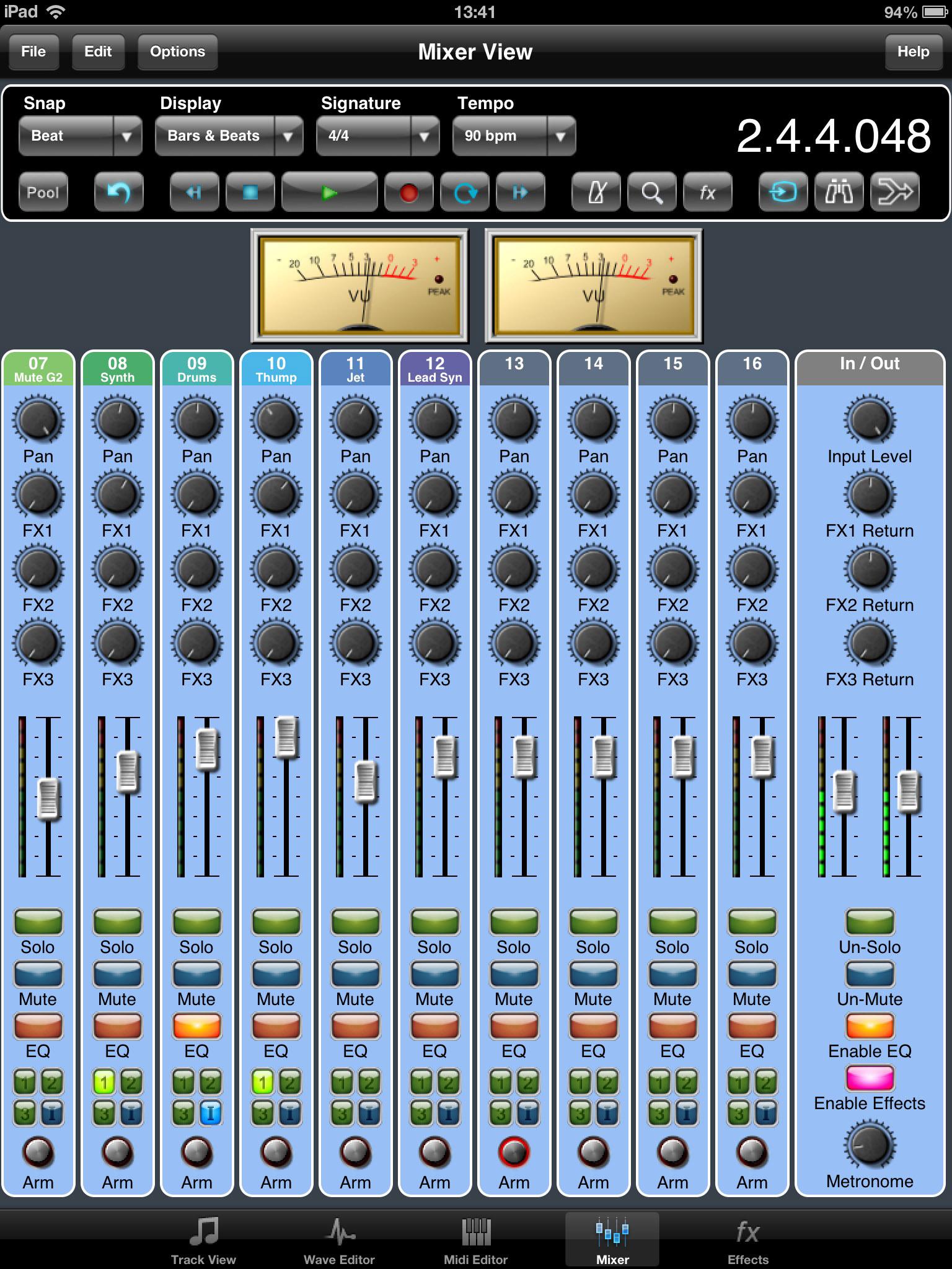 Virtual Mixer Software Meteor Mixer