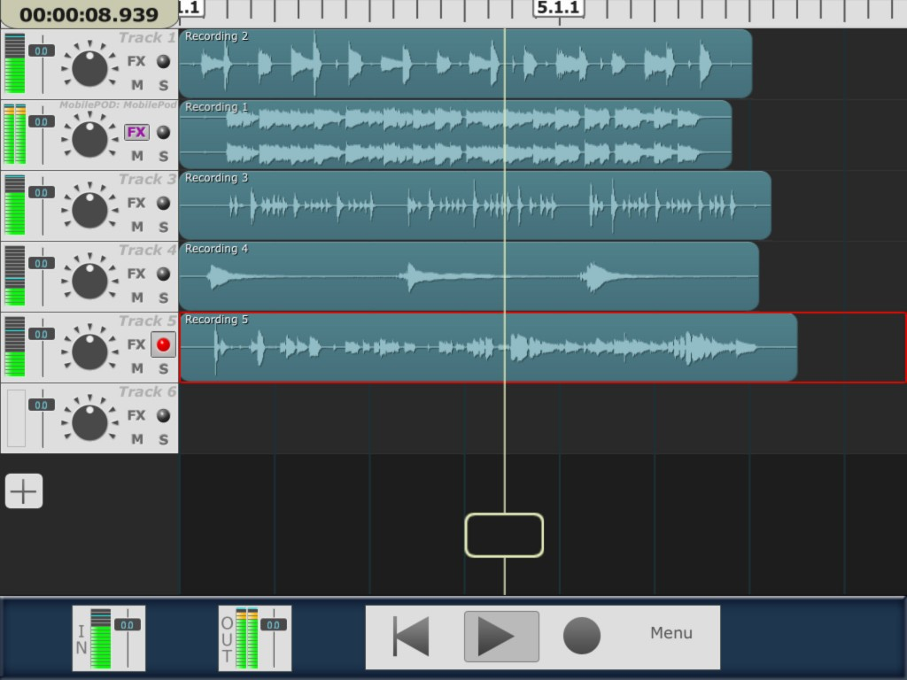 multitrack daw project window 1024x768 iOS DAW roundup   which recording app should you choose?