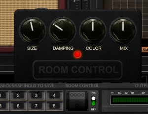 The global Room Control settings allow you to dial in a virtual room with a range of characteristics.
