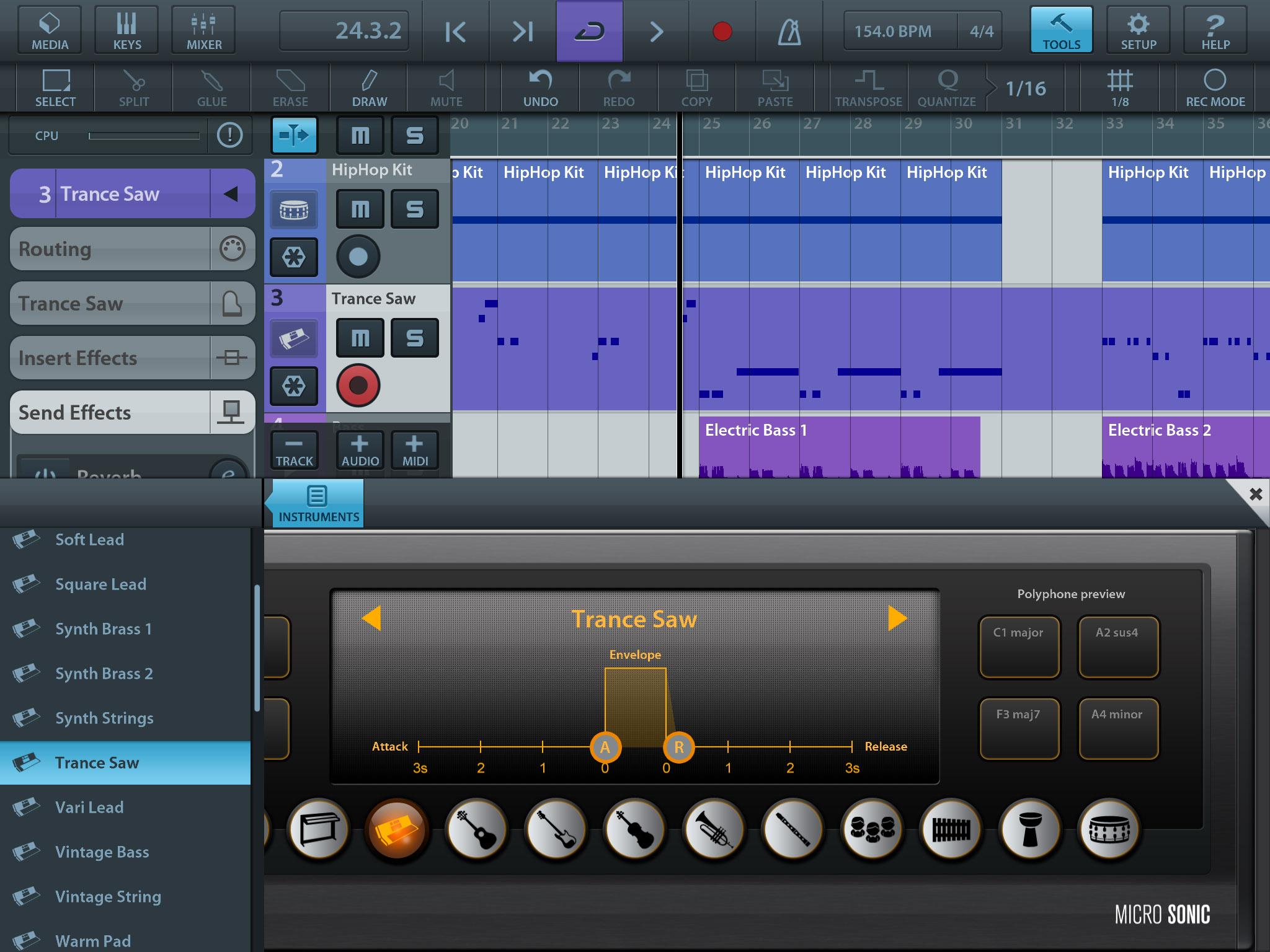 Virtual Mixer Software Cubasis Virtual Instruments
