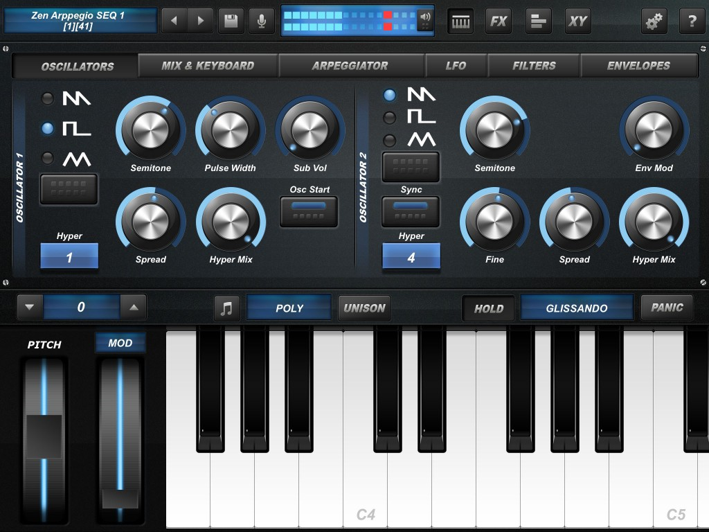 arctic prosynth main interface 2 1024x768 Arctic ProSynth update and sale   aggressive iOS synth app at a bargain price
