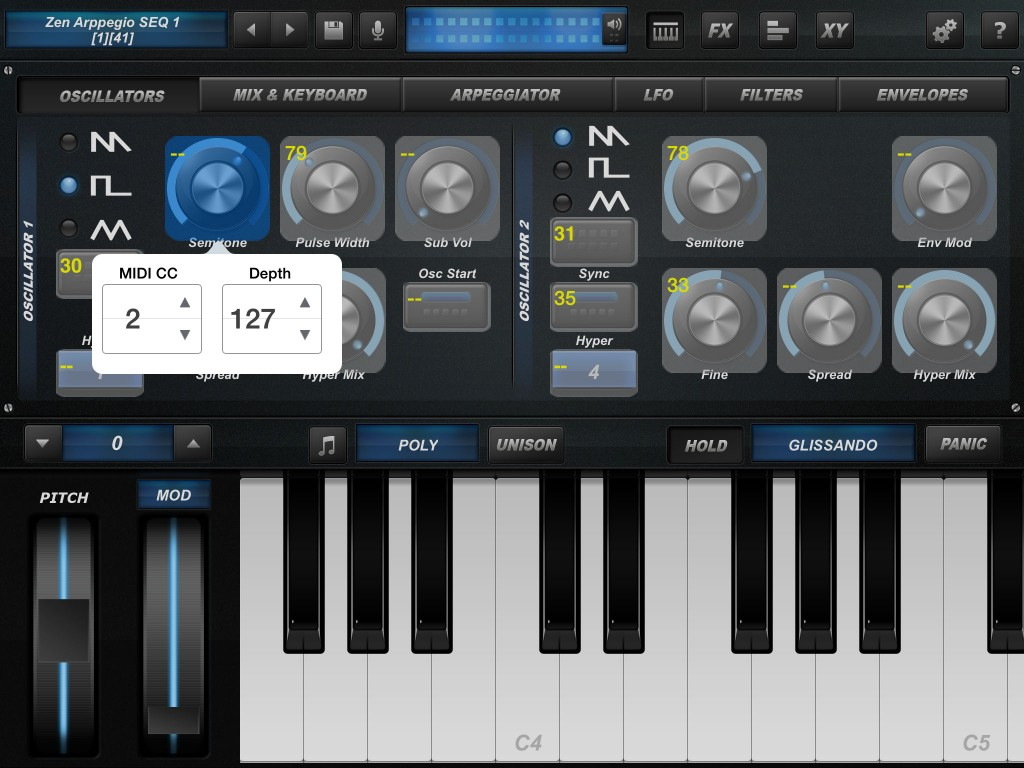 arctic prosynth midi learn active 1024x768 Arctic ProSynth update and sale   aggressive iOS synth app at a bargain price