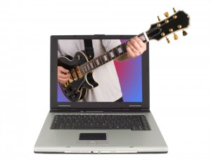 guitar from computer 300x233 Building an iPad recording studio; Part 1 – The evolution of the home recording studio